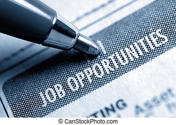απασχόληση ευκαιρία , calssified