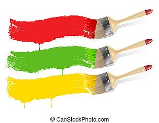 απεικονίζω , βάφω , σημαίες , βούρτσα