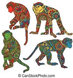 απεικονίζω , ρυθμός , mehe, μαϊμού
