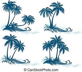 απεικονίζω σε σιλουέτα , βάγιο , γραφική εξοχική έκταση , δέντρα