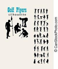 απεικονίζω σε σιλουέτα , γκολφ