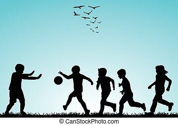 απεικονίζω σε σιλουέτα , ποδόσφαιρο , άπειρος αναξιόλογος