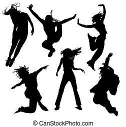 απεικονίζω σε σιλουέτα , χορός , άνθρωποι