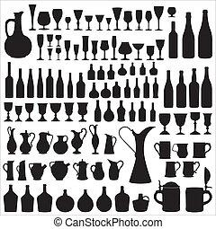 απεικονίζω σε σιλουέτα , wineware