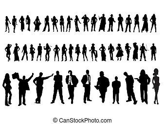 απεικόνιση , από , άνθρωποι