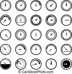 απεικόνιση , ενέργεια , speedometr, μέτρο , manometr, μικροβιοφορέας , εγκύκλιος , set., εικόνα