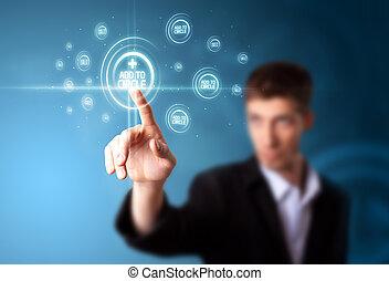 απεικόνιση , μοντέρνος , αντίτυπο δίσκου , κοινωνικός , επιχειρηματίας , δακτυλογραφώ