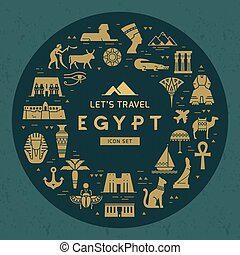 απεικόνιση , πρότυπο , αξιοθέατα , egypt., σύμβολο , θέμα , σχεδιάζω , γέμισα , εγκύκλιος