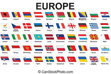 απεικόνιση , σημαίες , ευρωπαϊκός