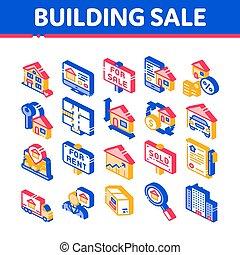 απεικόνιση , σπίτι , πώληση , κτίριο , μικροβιοφορέας , isometric , θέτω