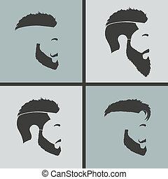 απεικόνιση , hairstyles , γένια