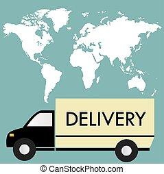 απελευθέρωση ανοικτή φορτάμαξα , επάνω , ένα , φόντο , χάρτηs , από , άρθρο ανθρώπινη ζωή και πείρα ,