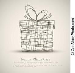 απλό , κάρτα , χριστουγεννιάτικο δώρο