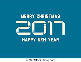 απλό , μικροβιοφορέας , έτος , καινούργιος , 2017, κάρτα , ευτυχισμένος