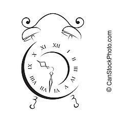 απλό , σύμβολο , γριά , ρολόι