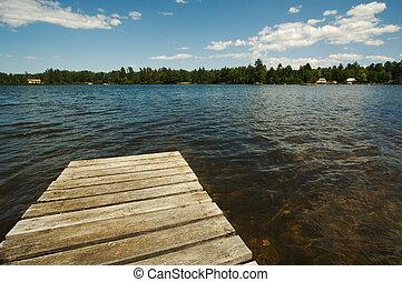 αποβάθρα , λίμνη