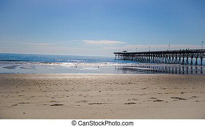 αποβάθρα , παραλία , μυρτιά