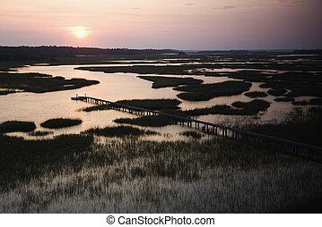 αποβάθρα , wetland.