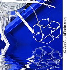 αποθήκη , ανακύκλωσα , κασσίτερος , χαρτί , μπορώ , ανακυκλώνω , γέμισα