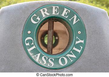 αποθήκη , γυαλί , μόνο , πράσινο