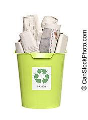 αποθήκη , εφημερίδεs , ανακύκλωση