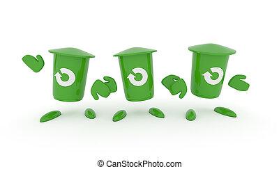 αποθήκη , πράσινο , γενική ιδέα , ανακύκλωση , σκουπίδια
