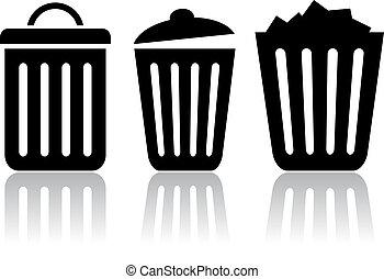 αποθήκη , σκουπίδια , εικόνα