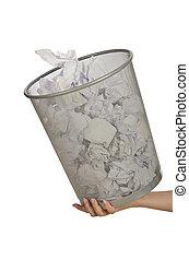 αποθήκη , χαρτί , σκουπίδια , ανάμιξη