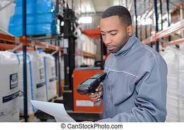 αποθήκη , χρησιμοποιώνταs , εργάτης , ερευνητής , handheld