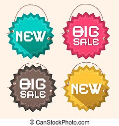 αποκαλώ , χαρτί , τίτλοs , καινούργιος , μεγάλος , κύκλοs , retro , αλυσίδα , πώληση