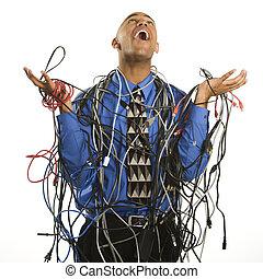 αποκρύπτω , άντραs , cables.