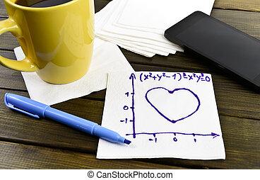 απολύτως ακριβής μαθηματικός ή χημικός τύπος , δραμάτιο , χαρτοπετσέτα , αγάπη