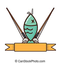 απομονωμένος , μήκος μισών υαρδών , ψάρεμα , εικόνα
