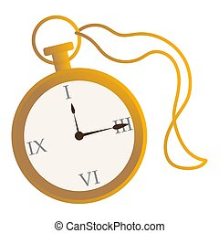 απομονωμένος , χρυσαφένιος , ρολόι , γριά