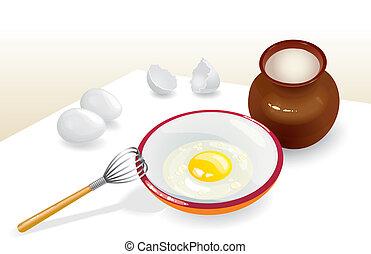 απομυζώ βράζω ή ψήνω στη στάμνα , αυγά