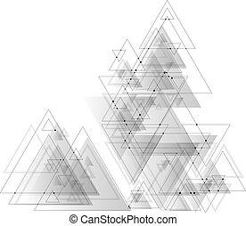 αποσιωπητικά , γκρί , τριγωνικό σήμαντρο , structure., αφαιρώ , poly, polygonal, σύνδεση , lines., μικροβιοφορέας , χαμηλός , φόντο , συνδετικός