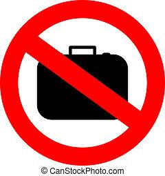 αποσκευές , σήμα , όχι , χέρι