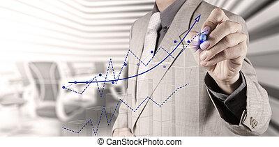 αποσύρω , επιχείρηση , επιτυχία , χάρτης , χέρι , επιχειρηματίας