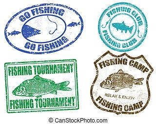αποτύπωμα , θέτω , ψάρεμα