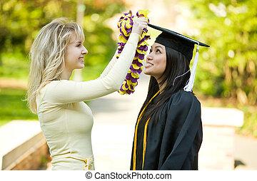 αποφοίτηση , κορίτσι