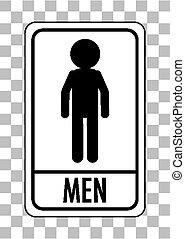 αποχωρητήριο , διαφανής , άντρεs , απομονωμένος , φόντο , σήμα , (wc)