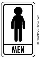 αποχωρητήριο , φόντο , άντρεs , απομονωμένος , σήμα , (wc), άσπρο