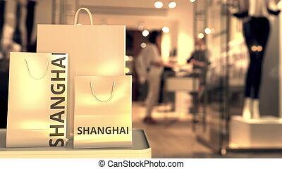 απόδοση , αρπάζω , κατάστημα , κίνα , ψώνια , συγγενεύων , λιανικό εμπόριο , χαρτί , 3d , entrance., σανγκάι , θολός , εναντίον , επικεφαλίδα