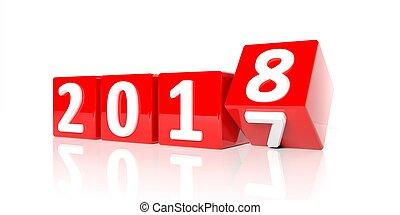 απόδοση , 3d , 2018, νέο έτος