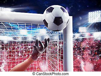 απόδοση , 3d , stadium., τερματοφύλακας