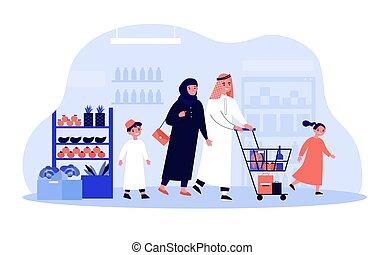 απόθεμα αγοράζω από καταστήματα , άραβας , λαχανικά , οικογένεια