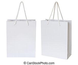 απόκομμα , απομονωμένος , τσάντα , χαρτί , ατραπός , άσπρο