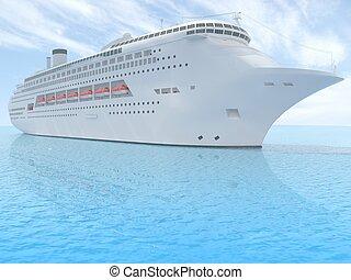 απόλαυση διαδρομή , πλοίο , άσπρο