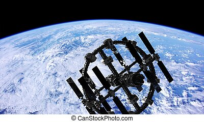 απώτερο διάστημα , πάνω , πλανήτης , θέση , διεθνής , γη