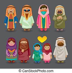 αραβικός , άνθρωποι , γελοιογραφία , απεικόνιση